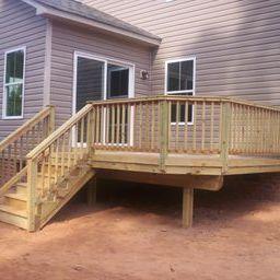 Classic pressure treated backyard deck in Lexington SC