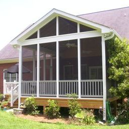 Columbia SC deck and screened porch combination would make the perfect spot to watch and play football this fall.
