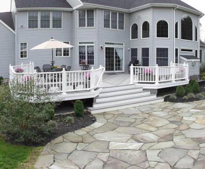 Composite Deck And Patio Combination