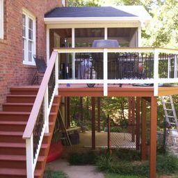 Elevated deck and screen porch in Lexington SC by Archadeck of Central SC