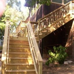 Large pressure treated deck on Saluda River in West Columbia SC by Archadeck of Central SC
