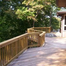 Spacious elevated deck on Saluda River in West Columbia SC by Archadeck of Central SC