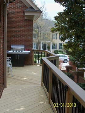 Back deck with cantilevered section Forest Acres SC