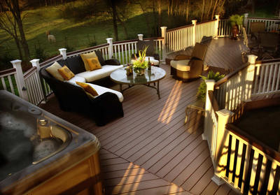Composite spa deck by Archadeck of Central SC