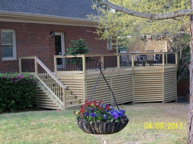 Forest Acres new side deck Archadeck of Central SC