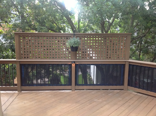 Columbia sc custom deck features for privacy custom for Hanging privacy screens for decks