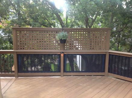 Louver detail on deck in Forest Acres Columbia SC