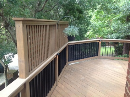 Louvred privacy wall from the side of deck in Forest Acres Columbia SC
