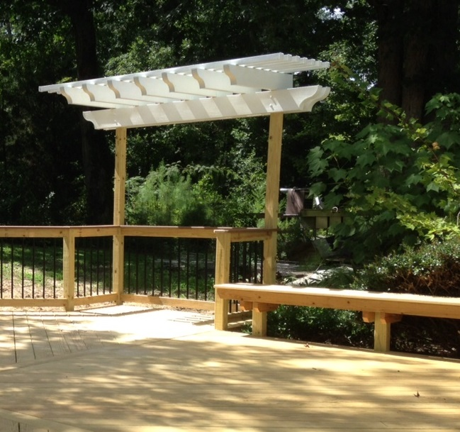 deck and pergola combinations custom decks porches. Black Bedroom Furniture Sets. Home Design Ideas
