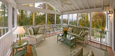 screened porch over new composite deck