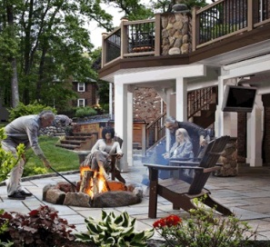 Backyard bliss by the fire pit