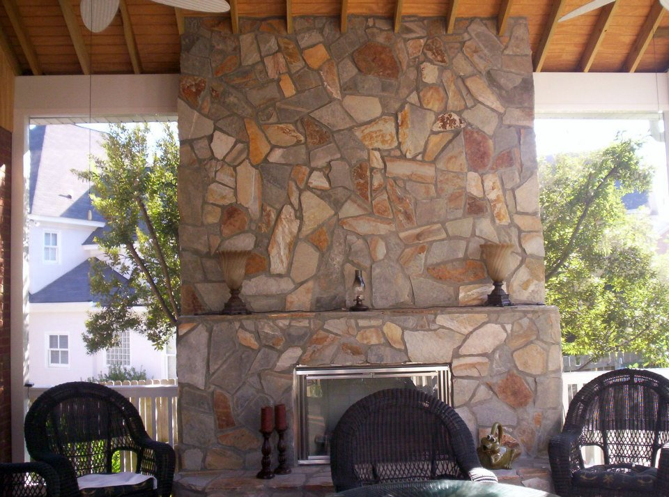 Columbia sc custom backyard fire features custom decks porches patios sunrooms and more - Incredible central fireplace ideas ...
