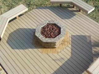 outdoor fire pit aerial photo