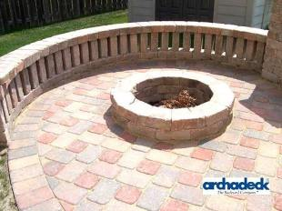 The Fire Pit is the central element of this outdoor space