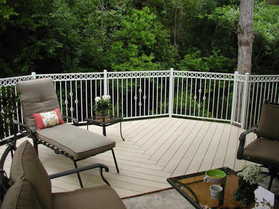AZEk Deck with seating area