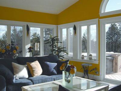 Bright sunny room addition