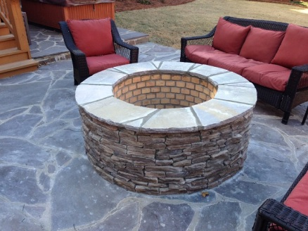 Completed fire pit by Archadeck of Central SC in Columbia SC