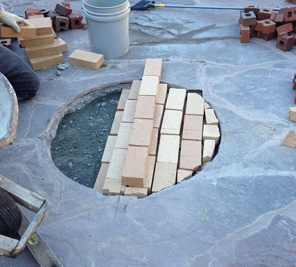 Constructing a custom fire pit Archadeck of Central SC 2jpg