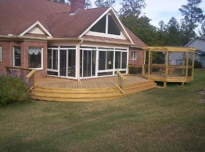 This deck and pergola prove a winning combination for these Irmo, SC residents