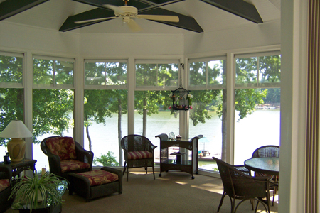 This image shows the versatility of the Weather Lite Collection vinyl window system.