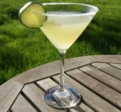 Cucumber Martini -- beautiful and refreshing!
