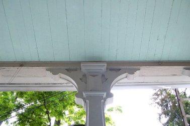 Central SC blue porch ceiling