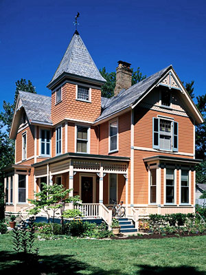 Victorian home with terra cotta exterior