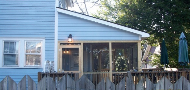 Completed deck-to- screened porch conversion in Columbia, SC.