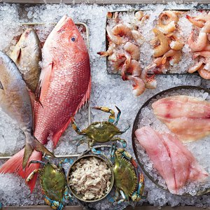 Fresh Atlantic seafood selections courtesy of Southern Living