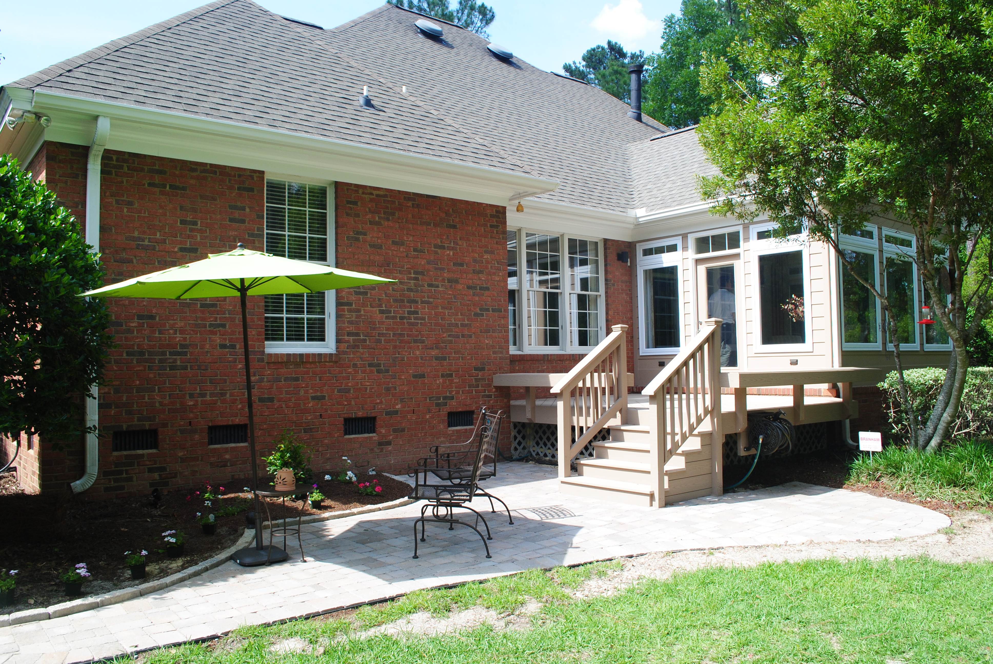 Custom decks porches patios sunrooms and more for Building a sunroom on a deck