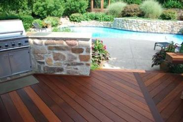 IPE poolside deck.