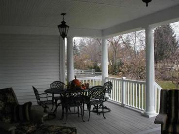 Classic rocking chair front porch.