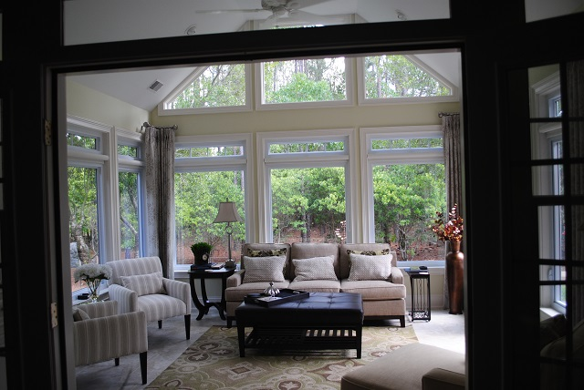 This spacious sunroom in Columbia, SC, delivers versatility within the home