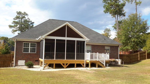 Deck and screened porch combination in Columbia SC