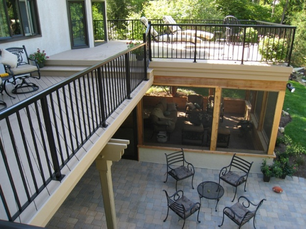 "This space turns the table of how we think of ""dry space"" with the screened porch underneath and deck atop -- amazing!"
