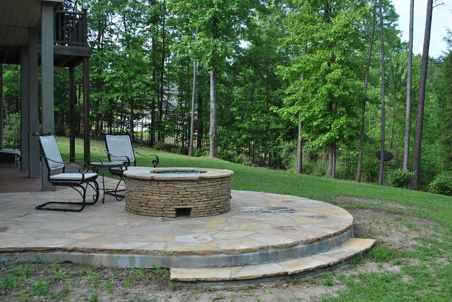 Decks And Porches Backyards Fire Pits