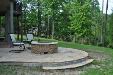 NE Columbia fire pit and patio addition.