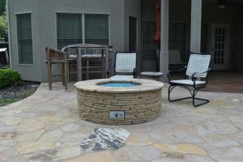 NE Columbia patio and custom fire pit