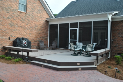 NE Columbia AZEK deck and screened porch