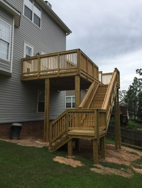 Deck after Archadeck of Central SC stepped in and took over project: