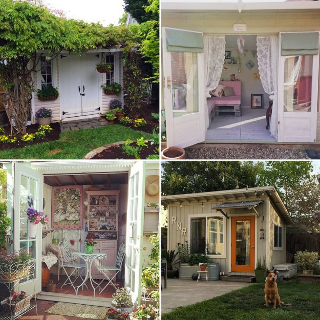 take a look at these inspirational She Shed designs courtesy of popsugar.com: