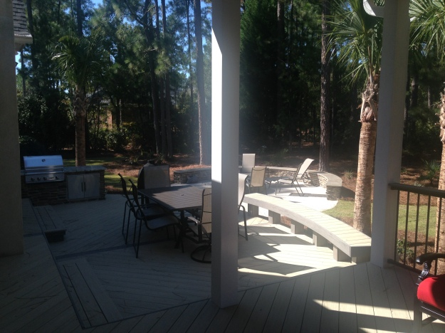 AZEK deck in NE Columbia outdoor combination project