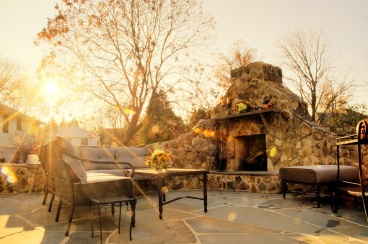 Patio in the fall