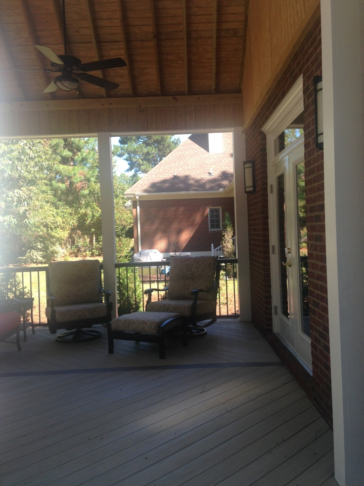 East Columbia SC covered porch builder