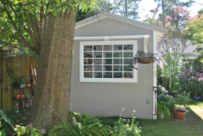 Custom garden shed in Columbia SC from side