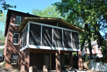 Elevated screened porch addition in University HIll