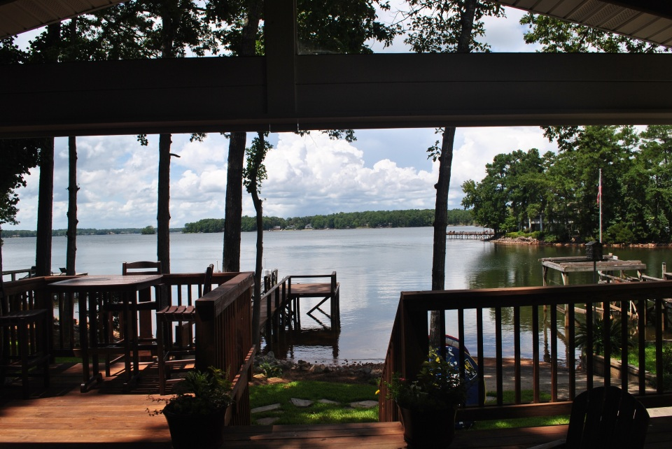 View from our completed deck and porch extension on Lake Murray.