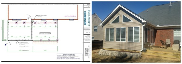 Irmo SC Deck and Sunroom Design Details