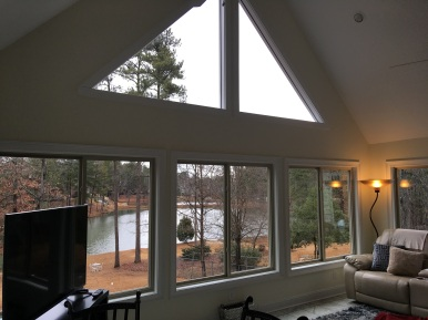 View overlooking private pond from Columbia SC Sunroom by Archadeck of Central SC