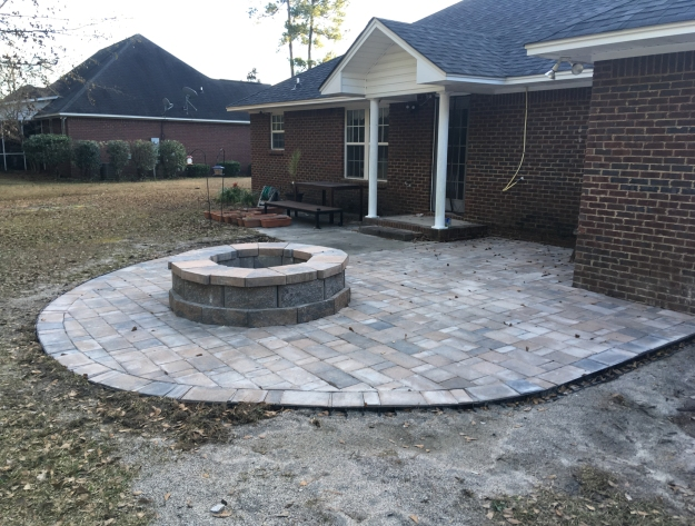 Sumter SC patio and fire pit